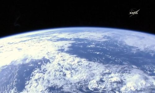 La terre depuis la station spatiale